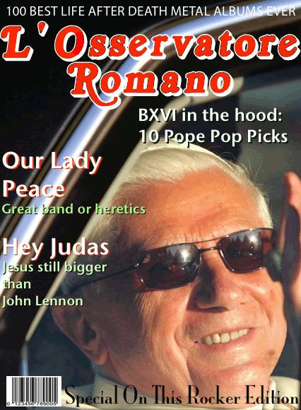 L' Osservatore Romano redone like Rolling Stone Magazine